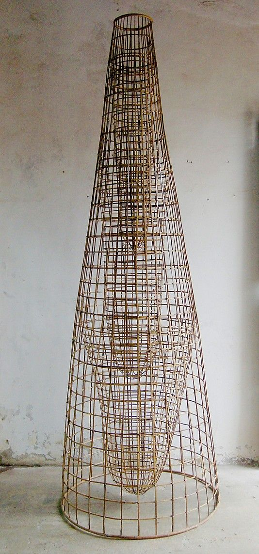 Upstream  Sopheap Pich  (born Battambang, Cambodia 1971)    Date:      2005  Culture:      Cambodia  Medium:      Bamboo, rattan, metal wire, and copper