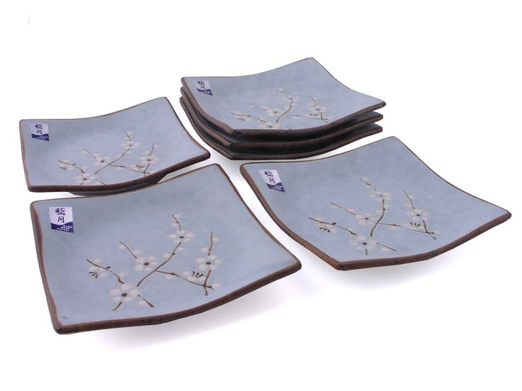 Japanese Sakura Blue Cherry Blossom appetizer plates to match the rest of my collection. Beautiful set but not as durable as I would like.  sc 1 st  Pinterest & 83 best Chinese or Japanese Plates images on Pinterest | Japanese ...