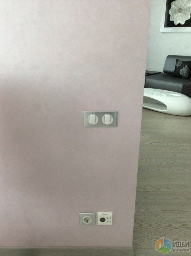 Декоративная штукатурка на стенах кухни