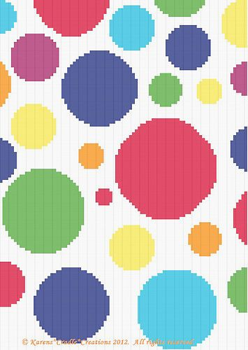 Crochet Patterns Polka Dots Graph Pattern Scrap Yarn | eBay