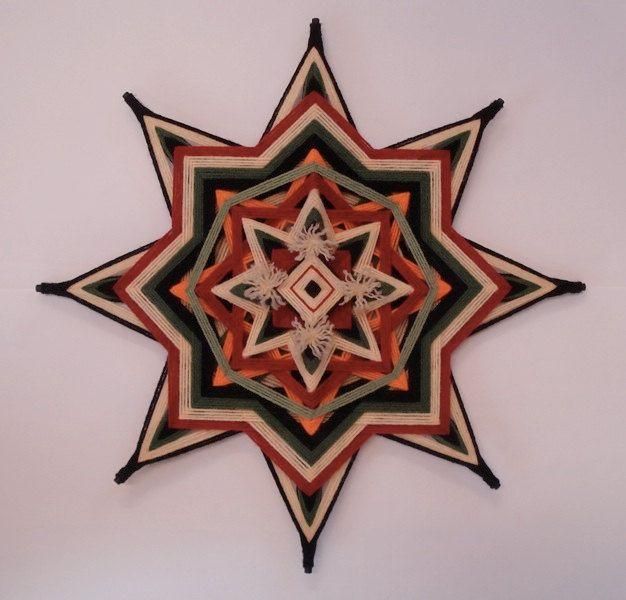 Sacred Cedar - Ojo de Dios - Yarn Mandala. $40.00, via Etsy.