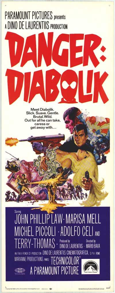 Diabolik, 1968 - USA poster (please follow minkshmink on pinterest)