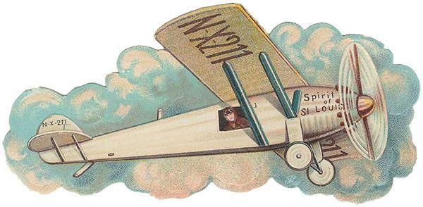 Spirit of St Louis Vintage Airplane Graphic