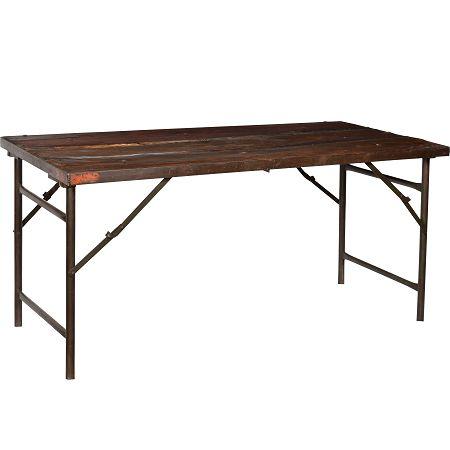 Industriële tafel bureau. www.blockdesign.nl