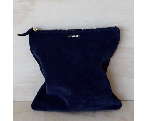 The Goods Co Foldover Clutch Suede - French Navy || Splice Boutique