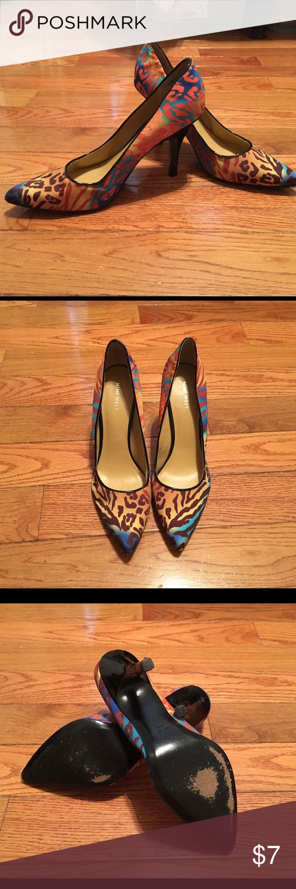 Nine West Multi colored Heels Take a walk on the wild side with these multi colored zebra heels. Add some flare to your all black outfit or more casual with some jeans. Nine West Shoes Heels