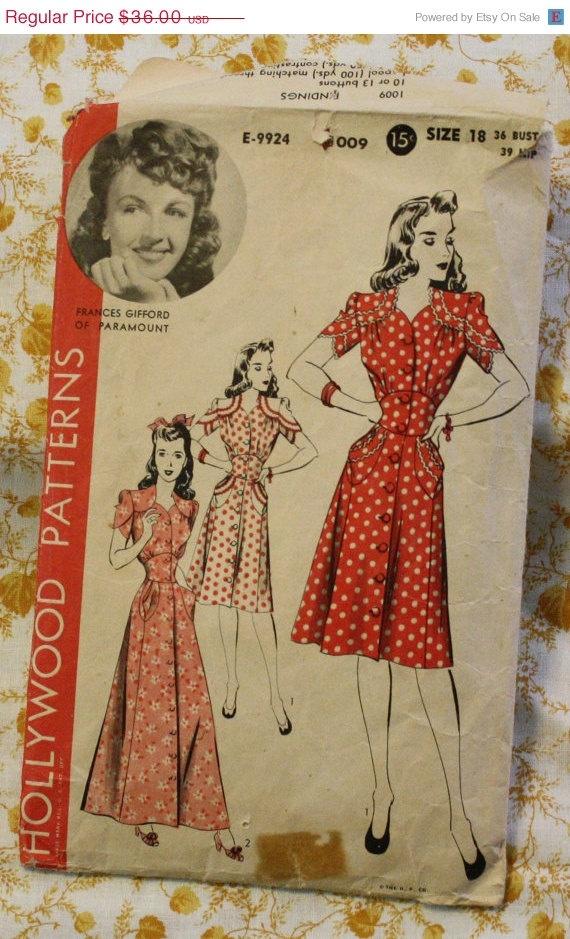 Hollywood 1940s Dress Pattern
