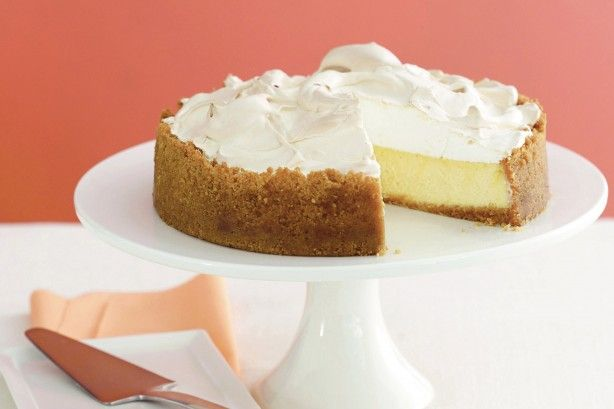 With a hint of lemon and dollops of sugary meringue, this is the ultimate cheesecake. Put this biscuity beauty on top of your table next time you have friends over for afternoon tea.