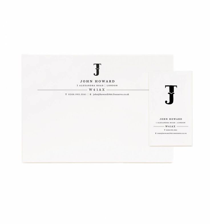 Typography Personalized Flat Notes & Calling Cards