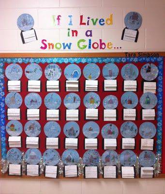 Cute writing activity for winter: If I Lived in a Snow Globe...