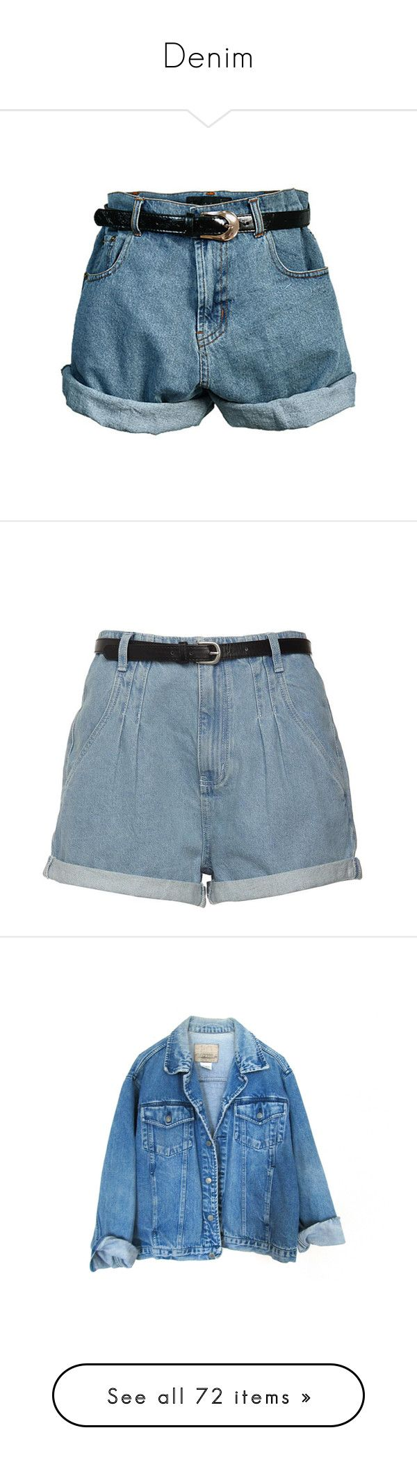"""Denim"" by marandfear ❤ liked on Polyvore featuring shorts, bottoms, pants, short, loose jean shorts, loose high waisted shorts, high-waisted shorts, boyfriend shorts, high rise shorts и short shorts"