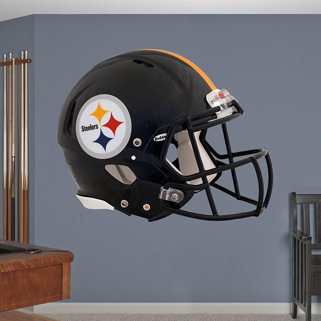 Pittsburgh Steelers Helmet REAL.BIG. Fathead Wall Graphic | Pittsburgh Steelers Wall Decal | Sports Décor | Football Bedroom/Man Cave/Nursery