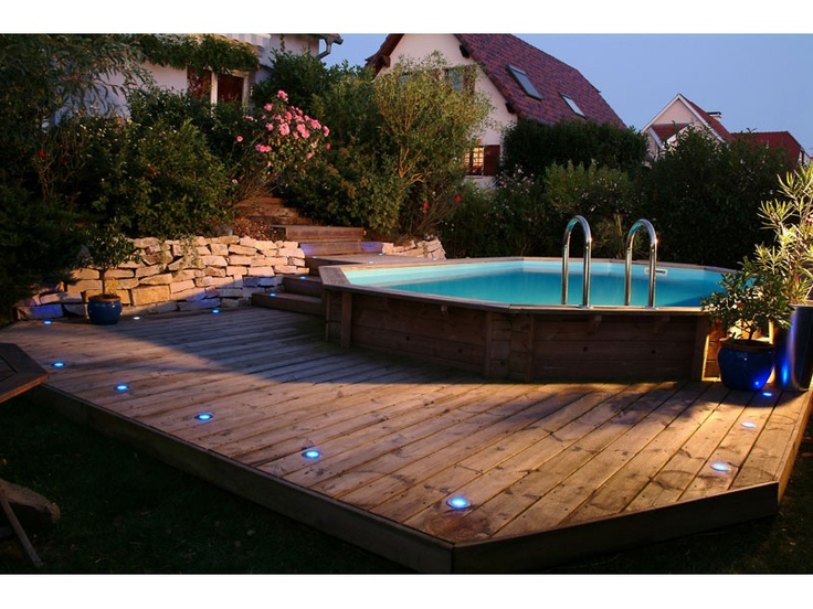 Les 35 meilleures images propos de piscine bois sur for Promo piscine bois octogonale