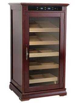 The Redford Electronic Cigar Cooler Cabinet Humidor RDFD We make custom cabinets right here in USA. Call 888.501.3227 to get a free quote. This Humidor is one of our high end cigar luxury furniture wi