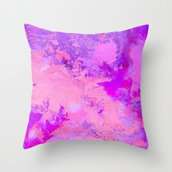 Buy Pink Crackle Throw Pillow by Jazzyinked at Society6