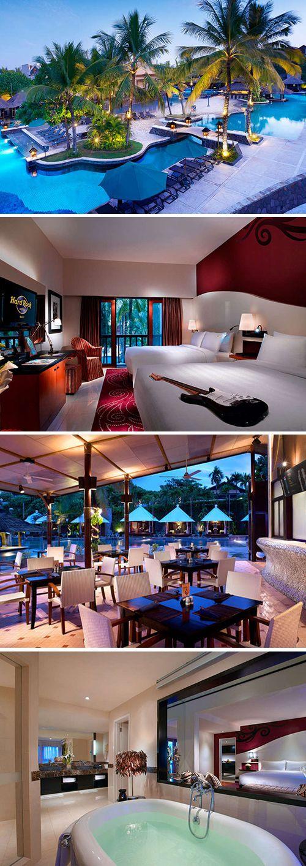 Middenin het levendige centrum van Kuta en op loopafstand van het strand vind je het luxe viersterren Hard Rock Hotel Bali. Geniet van een ontspannen vakantie op Bali dankzij de aanwezigheid van het fantastische zwemparadijs met glijbanen en de hippe cabana's. Have a Rockin' Stay!