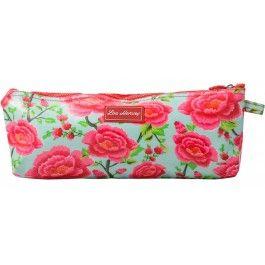 Lou Harvey long cosmetic bag vinyl-covered in Alexandra Sage design, great for #summer #beachbags #waterproof