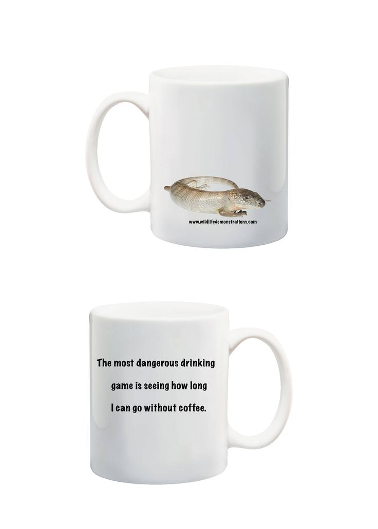 Patternless Pink Tongue ceramic mug.  $10AUD+ p&h. To see our full range jump on www.wildlifedemonstrations.com