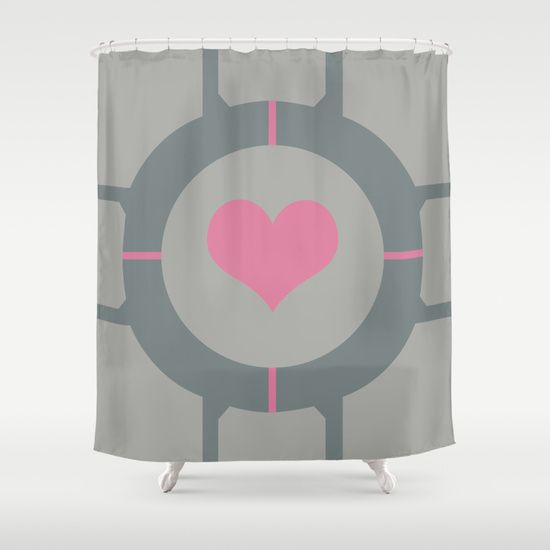 Companion Cube Shower Curtain