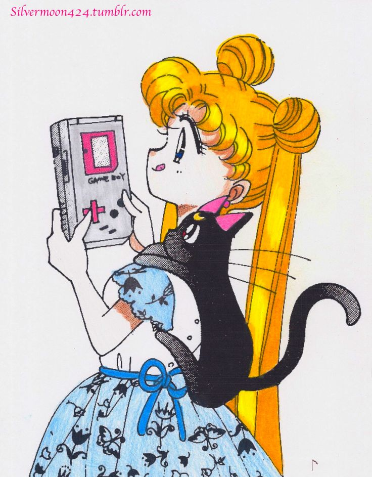 :) It even cuter knowing that there is a Sailor Moon game for the Game Boy.