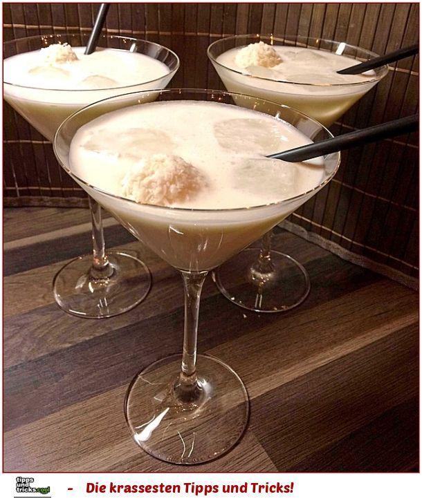 Raffaello - Cocktail ♥ Der beste Cocktail, den ich je getrunken habe - paradiesisch!