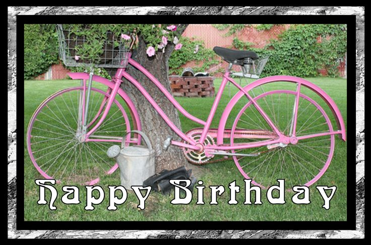 Happy Birthday pink bicycle