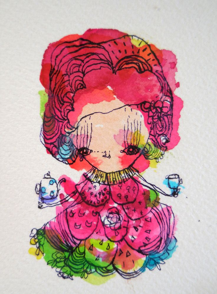 sweet tea inky watercolour for soon to be printed gift tags