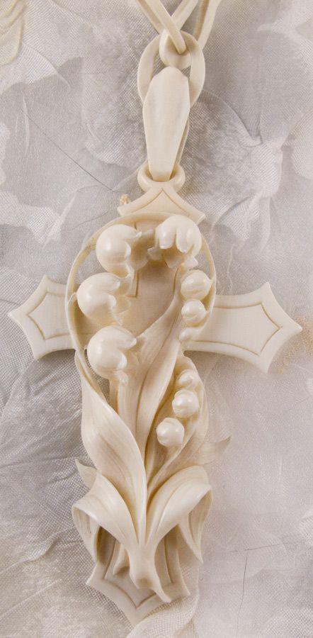 Victorian ivory cross