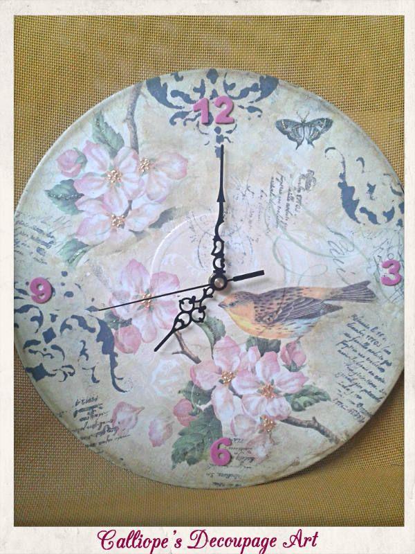 Ρολόγια   Calliope's Decoupage Art
