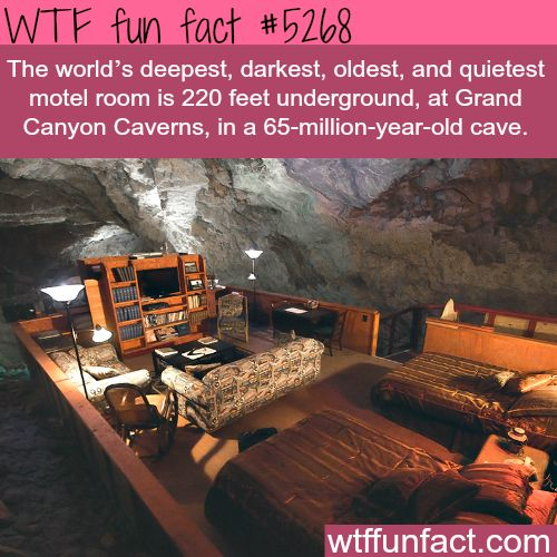 The Grand Canyon's underground hotel - WTF fun facts