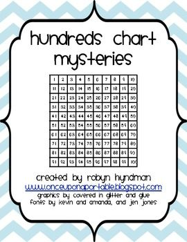This is a set of 10 logic puzzles that use the hundreds chart. Through a process of elimination, your students will put their math knowledge to the test to figure out the mystery number on each page.  These puzzles are a great way of assessing your students' knowledge of various math terminology and vocabulary, as they will need to apply their knowledge to solve these puzzles. ...