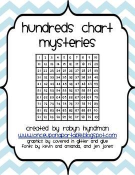 Math Logic Puzzles: Hundreds Charts Mysteries