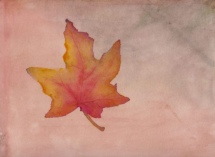 This Maple Leaf was created on a background that I'd previously done for an art challenge. I found the color very fitting for an Autumn leaf