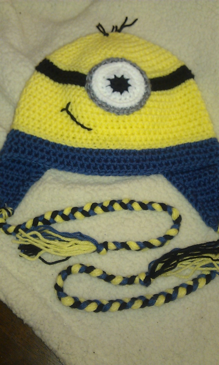 105 best minions images on pinterest crochet hats clothing and minion hat bankloansurffo Image collections