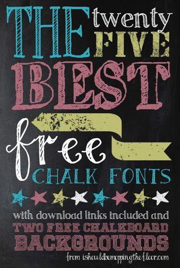 Fun Free Chalk Board Fonts