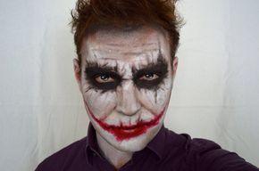 maquillage Halloween yeux en fard noir et rouge à lèvres
