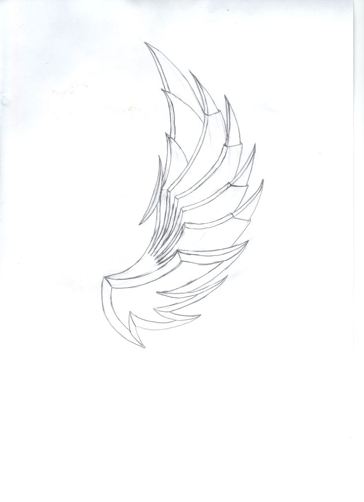 steel wings pencil sketch