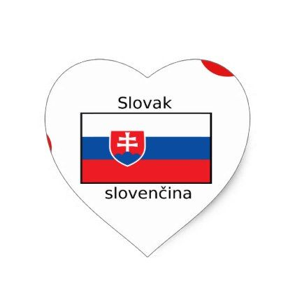 Slovak Language And Slovakia Flag Design Heart Sticker - craft supplies diy custom design supply special