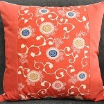 dazzling daisies silk cushion - red - by PorcupineDesign on madeit