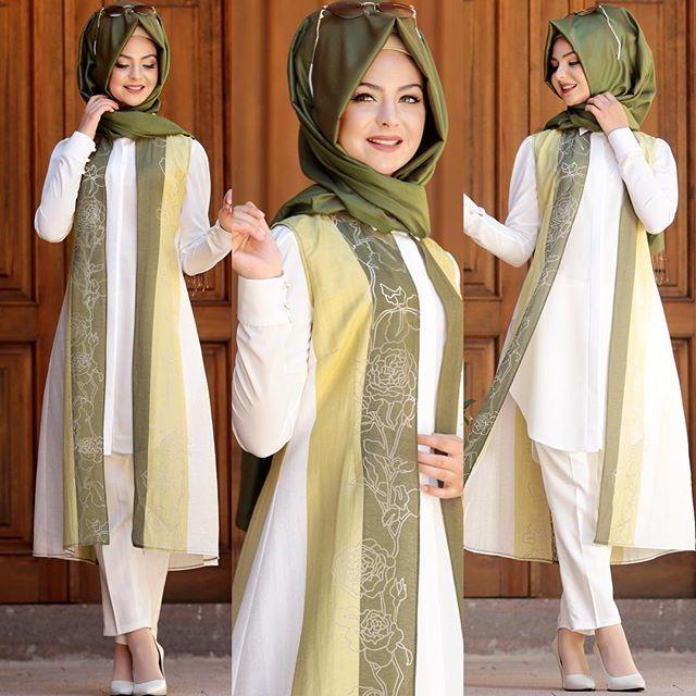 Detaylar detaylar... Hayat Yeleğimizin yeşil rengi. #pınarşems #hayatyelek #hijab #hijabi #hijabfashion #new