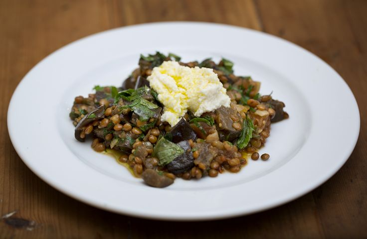 MoroccanEggplant and Lentils with Pomegranate Molasses and Ricotta - Maggie Beer