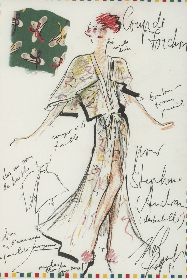 Quand Karl Lagerfeld Habillait Stephane Audran Mode D Aquarelle