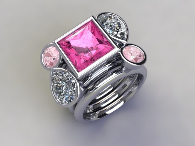 'Pink Mojito' stacker ring available at  www.lucymecklenburghjewellery.com in association with www.diamondgeezer.com