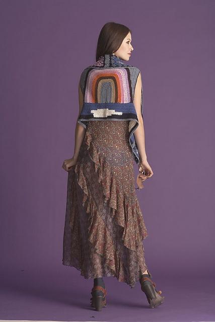Rad Anna Sui crochet vest pattern.