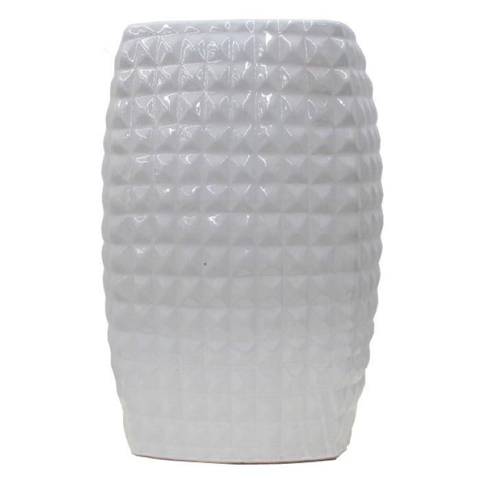 Ceramic Stool Diamond White