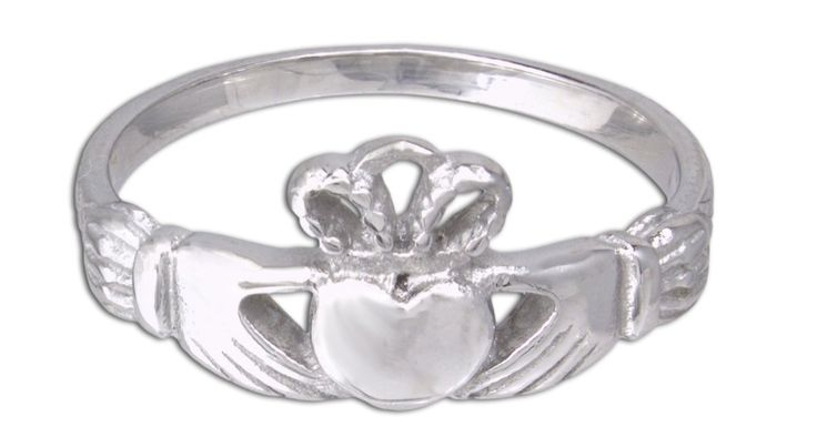 Quantum Jewelry 316L Stainless Steel Petite Celtic Claddagh Womens Ring (7). High Quality 316 L Stainless Steel. Highly polished. 316 L Stainless Steel does NOT tarnish or rust. It is very hard and durable. It has a beautiful luster that can be buffed and polished to remove fingerprints or scratches. Heart measures 7mm, crown and heart is 11mm , and from cuff to cuff is 20mm The band is 2.5mm. The traditional way to wear a Claddagh ring is if you are single, wear it on your right hand…
