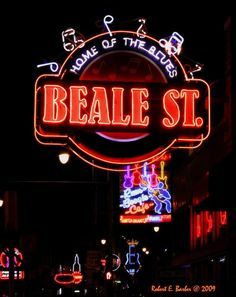 Beale St. Memphis, Tennessee- a boozy night out where you buy your drinks and bring them from bar to bar.  A few famous people have bars here- worth visiting day and night time.  Great big band show, and lots of cool music and people watching.  Free!!