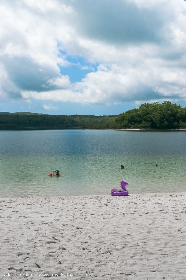 Awesome swimming spots on Fraser Island with kids