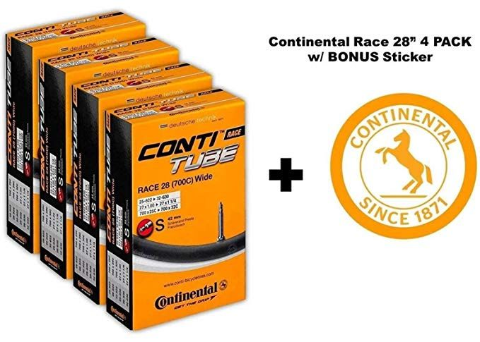 Continental Race 28 700x25 32c Bicycle Inner Tubes 42mm Presta