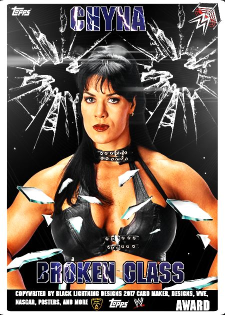 broken glass 5 card set: wave 1: reward is chyna: cards u have are charlotte,natalya,goldberg,ryback,and sting, hope u all enjoy my cards i created Black Lightning ign in wwe slam nascarfan88